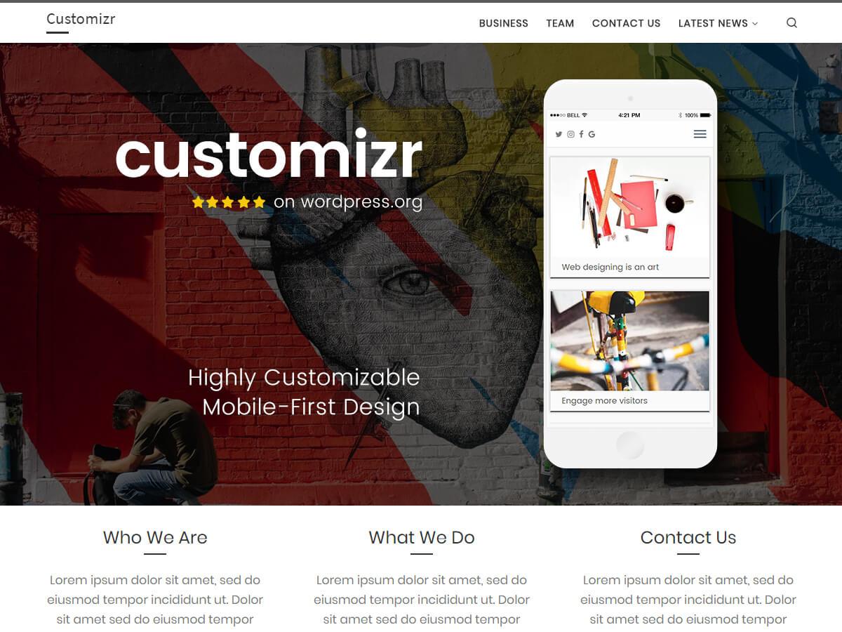 Customizr este o temă curată și resposivă